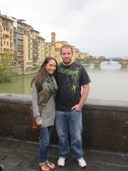 November 7, 2010 in Florance, Italy with my beautiful future wife!