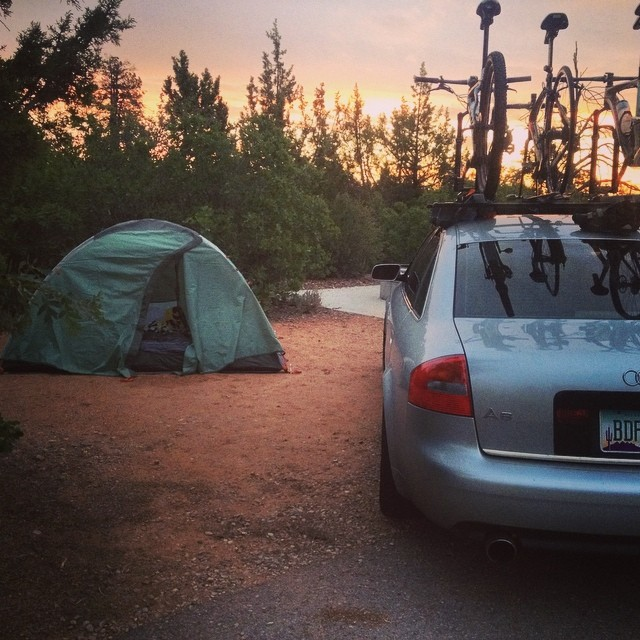 Camping 50 Miles outside Moab